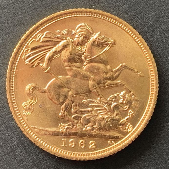 1962 Full Gold Sovereign